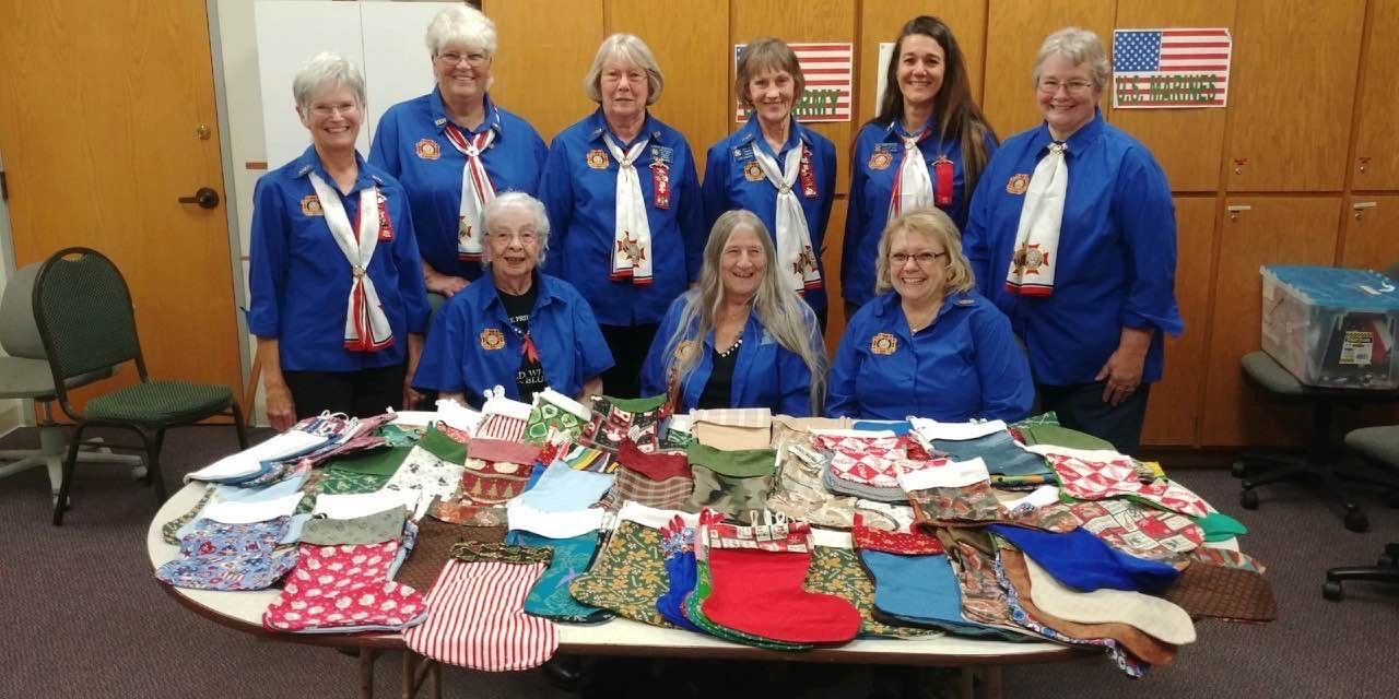 Auxiliary made 305 Xmas Stocking for the Veterans.